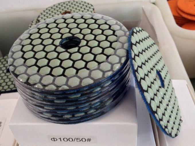 Colorful Dry Diamond Marble Polishing Pads High Durability Hook And Loop Backing
