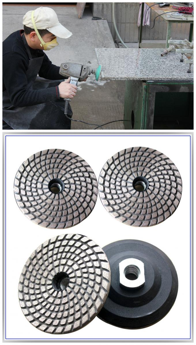 Metal Bond Flexible Diamond Polishing Pads , Granite Polishing Pads For Hard Materials
