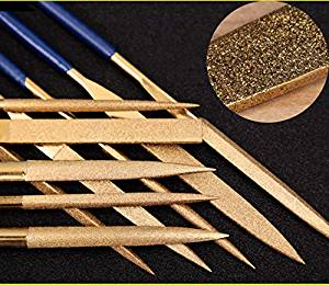 3 * 140 mm Titanium Coated Diamond Micro Files Excellent Surface Finish For Soft Metal Wood