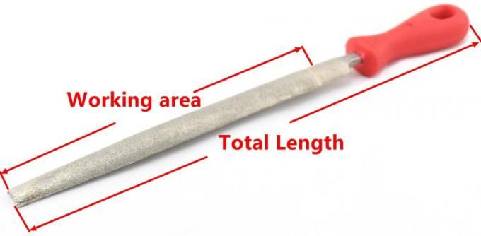 Half Round Diamond Hand File Long Term Wear Resistant Smooth Surface After Grinding