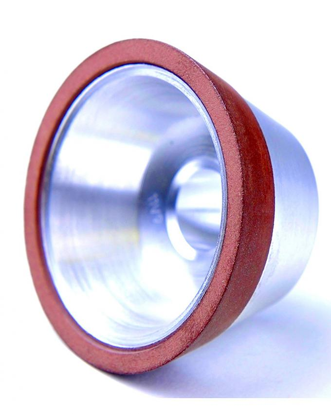 "11V9D5T45X3G15P Resin Bond Diamond Grinding Wheel Flaring Cup Wheel OD 5"" Bore 1.25"""