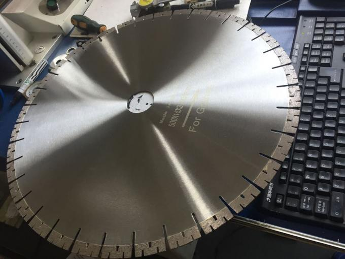 500mm W Segmented Silver Brazed Diamond Cutting Blade As Granite Cutting Tools
