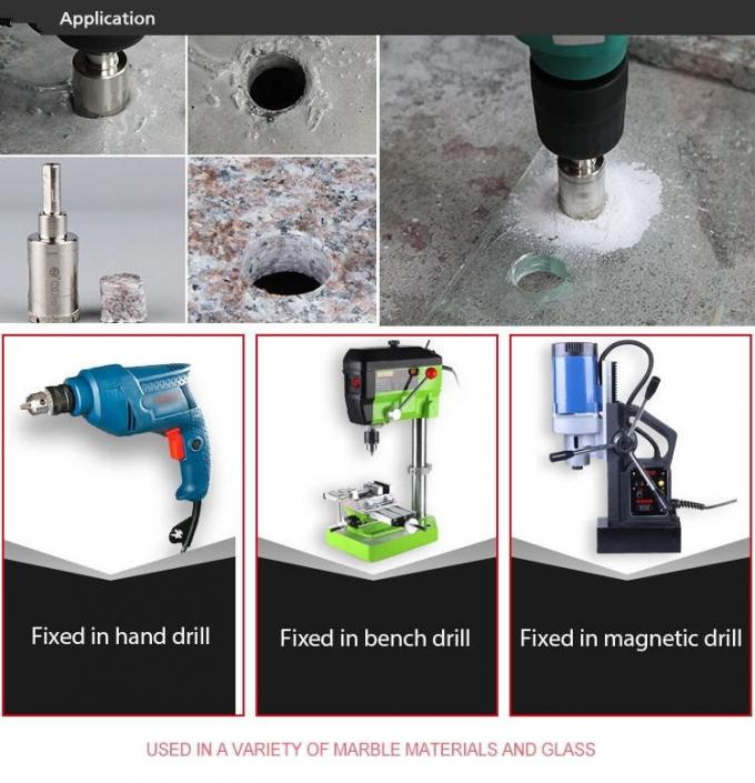Electroplated Diamond Core Drill Bit Glass Hole Saw For Marble Granite Tiles