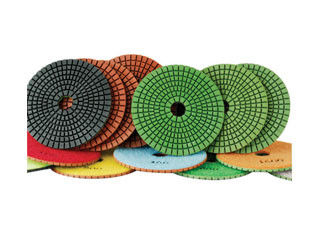 China 100mm granite flexible diamond polishing pads wet polishing use supplier