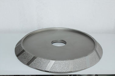 China Vacuum Brazed Industrial Diamond Grinding Wheels , Steel Core E Shape 100mm Diamond Grinding Wheel supplier
