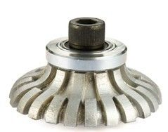 China Metal Bond System Vacuum Brazed Router Bits F Shape For Portable Profile Machines supplier