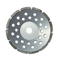 China Low Noise Single Row Cup Wheel Convenient Installation For Hard Granite Grinding supplier
