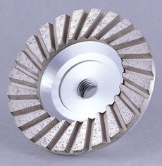 China Aluminum Body Diamond Cup Wheel , Concrete Grinding Cup Wheel For Abrasive Meterials supplier