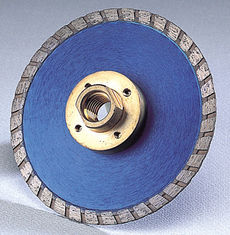 "China Turbo Flush cutting blades diamond cutting blade for stone granite with flange M14,5/8""-11 supplier"