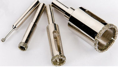 China Electroplated Diamond Core Drill Bit , Diamond Hole Saw For Limestone / Soft Stone supplier