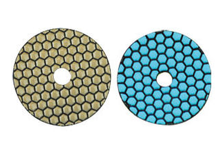 China Colorful Dry Diamond Marble Polishing Pads High Durability Hook And Loop Backing supplier