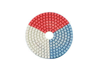 China Round Shape Diamond Resin Polishing Pads Wear Resistance Three Color In One supplier