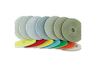 China Fast Speed Diamond Polishing Pads 2-3mm Thickness High Gloss Finishes In Short Time supplier