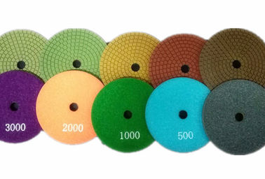 China Safety 5 Step Diamond Polishing Pads , 100mm OD Diamond Flexible Polishing Pad supplier