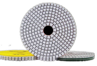 China High Efficiency Diamond Polishing Pads , 4 Inch 3 Step Diamond Granite Polishing Pads supplier