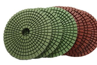 China Abrasion Resistant Diamond Resin Polishing Pads Installed On Portable Grinding Machine supplier