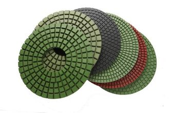 China High Gloss Finish Diamond Polishing Pads , Resin Bond Diamond Stone Polishing Pads supplier