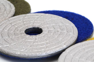 "China Fast Change Diamond Polishing Pads , 4"" Dry Concrete Polishing Pads Extremely Long Life supplier"