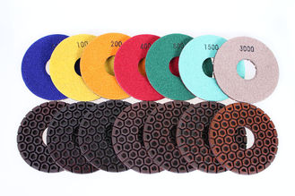 "China Resin Copper Bond Diamond Polishing Pads , 4"" / 5"" Angle Grinder Polishing Pad supplier"