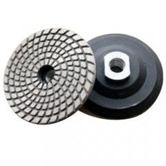 China Metal Bond Flexible Diamond Polishing Pads , Granite Polishing Pads For Hard Materials supplier