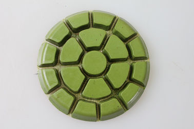 China 3 Step Synthetic Diamond Floor Pads Round Shape With Excellent Polishing Performance supplier
