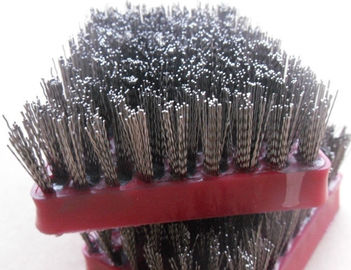 China Steel Grit Diamond Abrasive Brush , Frankfurt Stone Polished Abrasive Wire Brush supplier