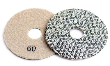 China 4 Inch 100mm Concrete Polishing Pads 4pcs / Set Fast Removal Tile Glass Stone Sanding Disk supplier