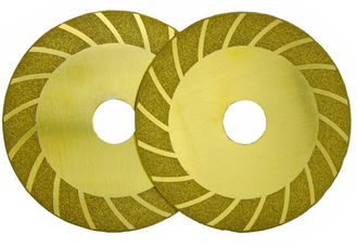 China 4 Inch Titanium Plating Diamond Tile Blade Wave Cutting Wheel Grinding Disc supplier