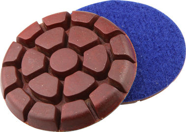 China 3 Inch Metal Chip Concrete Floor Polishing Pads Grit 50 In Round Shaped supplier