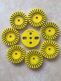 China 24 Segment Turbo Cup Wheel Floor Buffer Pads For Concrete / Terrazzo / Granite supplier