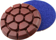 China 3 Inch Metal Chip Concrete Floor Polishing Pads Grit 50 In Round Shaped factory