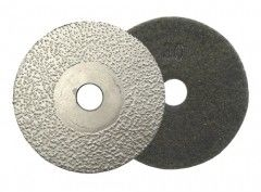 Vacuum Brazed Diamond Polishing Pads , Diamond Grinding Disc For Concrete Polishing
